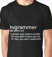 Programmer definition white Graphic T-Shirt