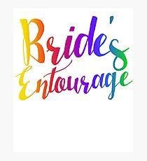 Bride entourage bachelorette party  Photographic Print