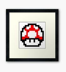 8-bit Mario Mushroom! Framed Print
