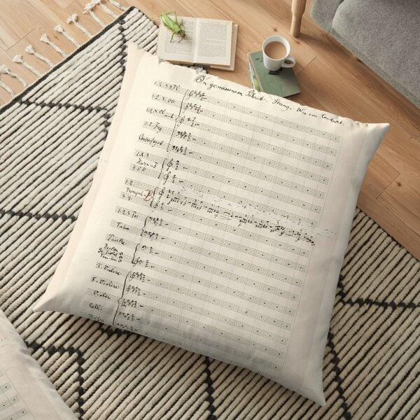 Mahler | Symphony 5 | Original manuscript score Floor Pillow