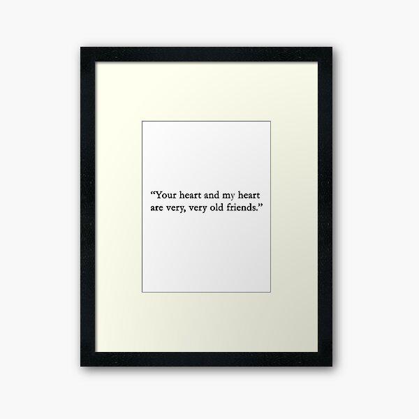 You heart.... Framed Art Print