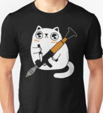 Cuddly Combat Cat T-Shirt