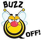 Funny Buzz Off Atitude Bee by doonidesigns