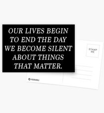 Martin Luther King, Jr. Quote Postcards