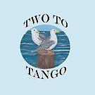 Two to Tango ~ Seagulls by Barbara Applegate