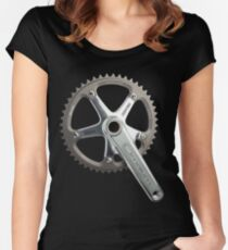Silver Omni Crank Women's Fitted Scoop T-Shirt