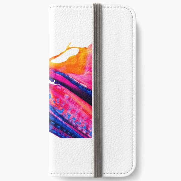 Abstract X swoosh (orange/blue/pink/purple) iPhone Wallet
