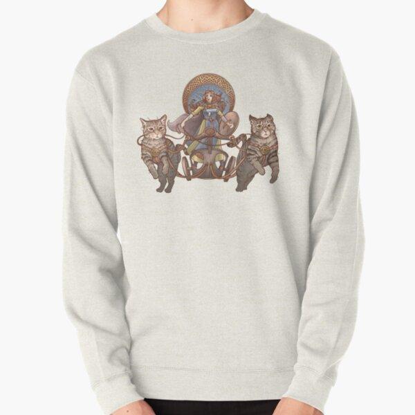 Freya Driving Her Cat Chariot Pullover Sweatshirt