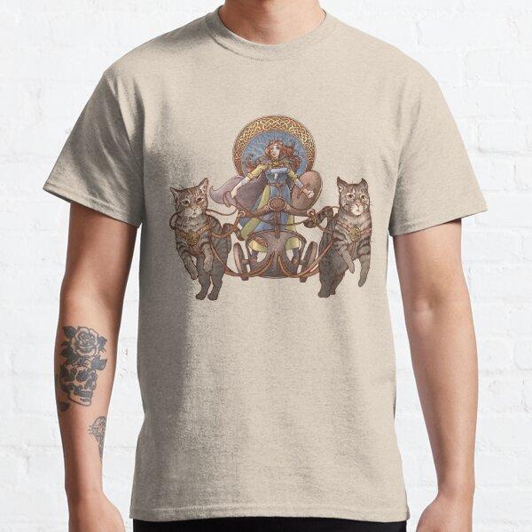 Freya Driving Her Cat Chariot Classic T-Shirt