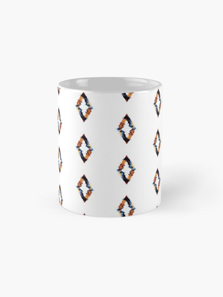 Alternate view of Abstract diamond Mug