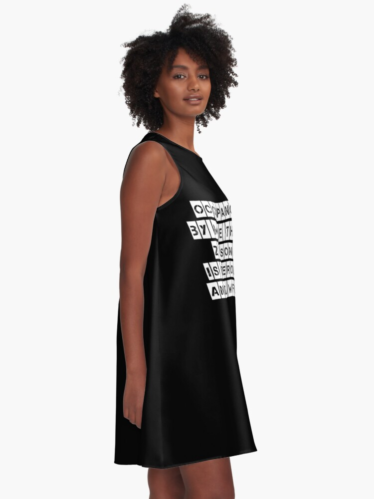 Alternate view of Occupancy (Black clothing) A-Line Dress