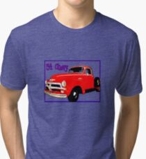 54 Chevy Pickup Acme of an Age Tri-blend T-Shirt
