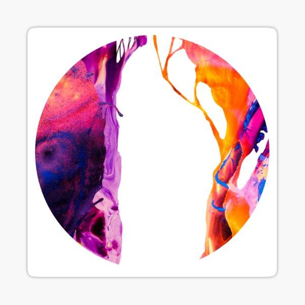 Abstract circle (purple/orange) Sticker