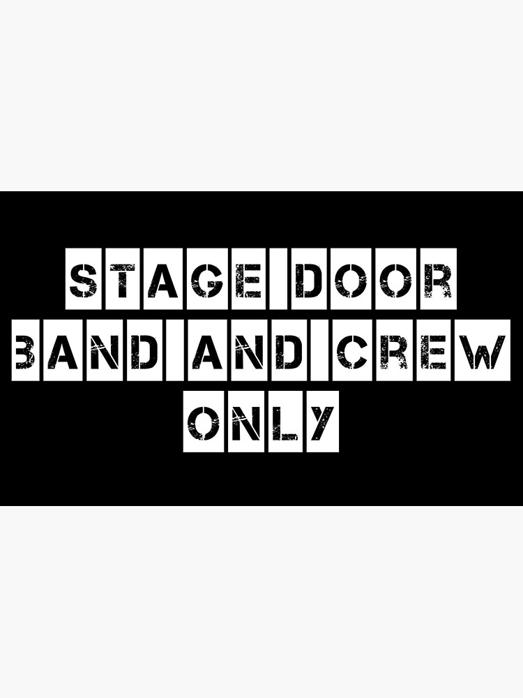 Stage Door (For Black clothing) by ExcellRocks