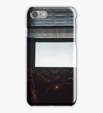 Empty cinema screen with audience.  iPhone Case/Skin