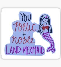 Leslie Knope Land Mermaid Quote Sticker