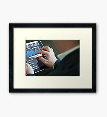 Businessman with digital tablet PC Framed Print