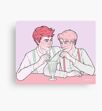 Milk Bar Boys Canvas Print