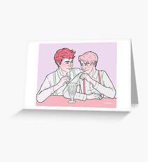 Milk Bar Boys Greeting Card