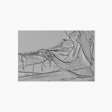 Furled and Lashed Jib Sail Art Board Print
