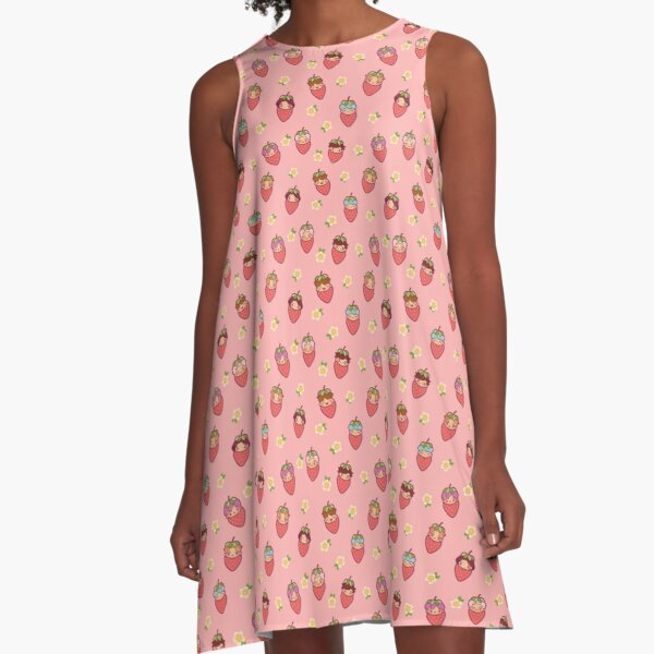 BTS Strawberry Patch PINK ~Clothes & Accessories~   A-Line Dress