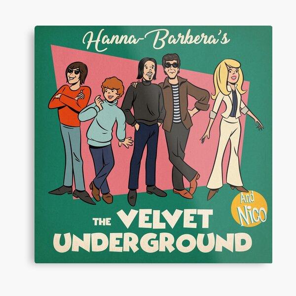 Cartoon Underground Metal Print