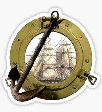 Clipper Through A Porthole Sticker