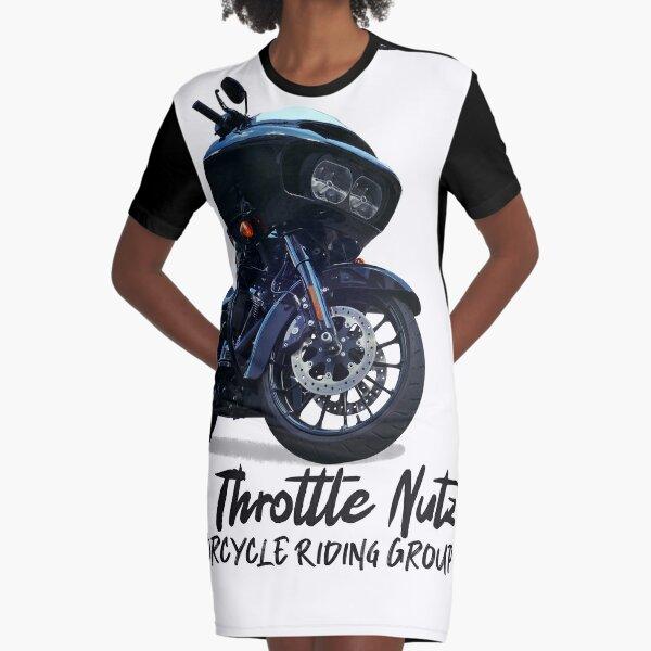 Roll Like A Boss (Large Print Design) Graphic T-Shirt Dress