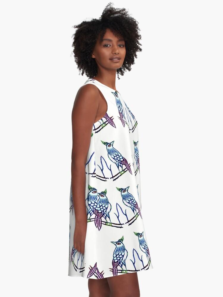 Alternate view of ONE BAM BIRD A-Line Dress
