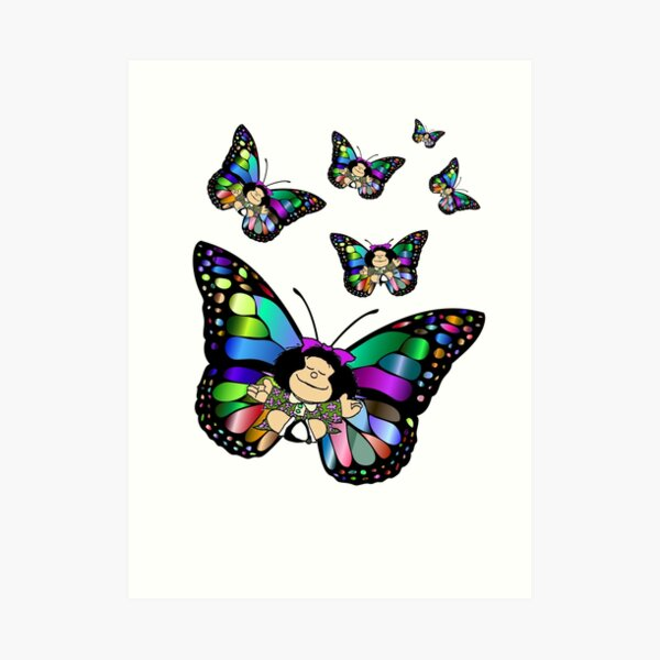 Mafalda vuela!!! Lámina artística