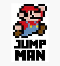 Mario Jump Man Photographic Print