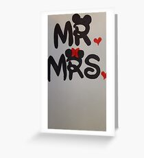Mr and Mrs design Greeting Card