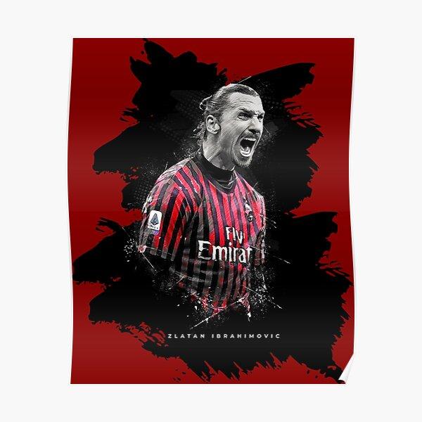 Zlatan Ibrahimovic Ac Milan Poster