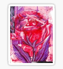Abstract Rose Sticker