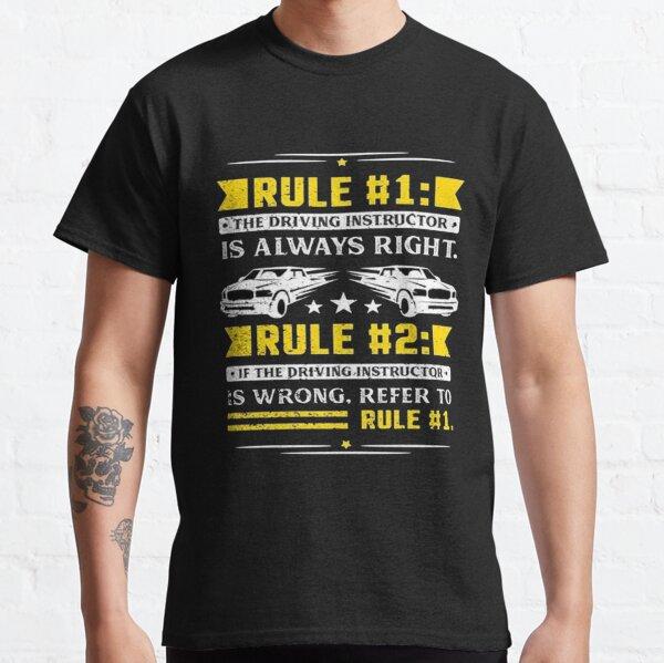 Reglas del instructor de conducción Camiseta clásica