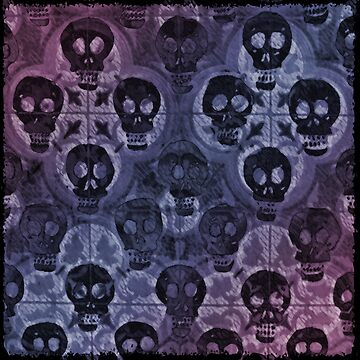 Red Violet Skulls Alternate by likelikes