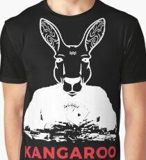 Smart Kangaroo Bluff Poker | Animal Character Art Graphic T-Shirt