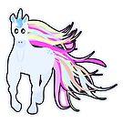 Pretty Pastel Cartoon Unicorn by doonidesigns