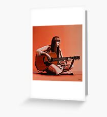 Joni Mitchell Painting Greeting Card