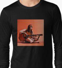 Joni Mitchell Painting Long Sleeve T-Shirt