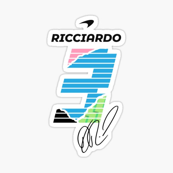 Ricciardo Mclaren Sticker