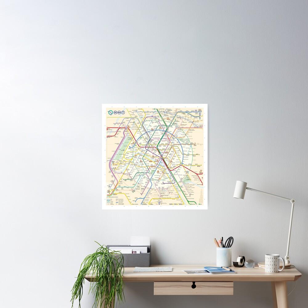The New Paris Metro Map Poster