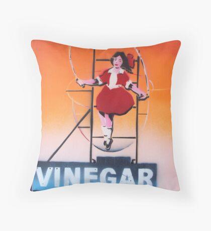 Skipping Girl Sunset Throw Pillow