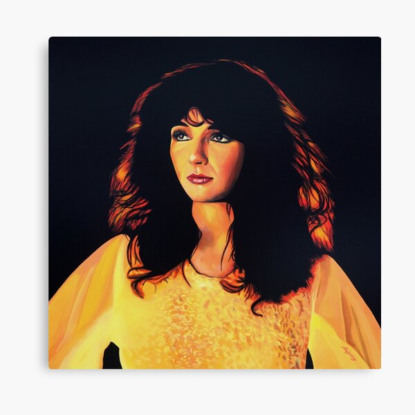 Kate Bush Portrait Stretched Canvas Wall Art Poster Print Music Artist Singer Cd
