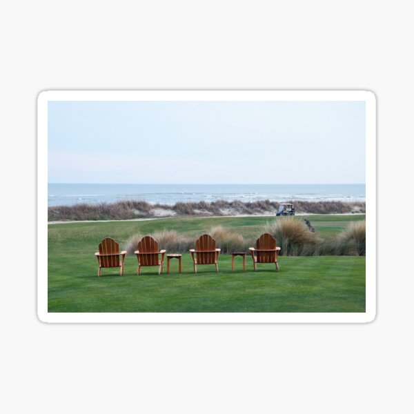 Chairs at the Ocean Course 18th Green Sticker