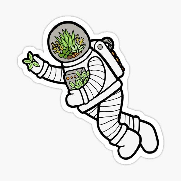 Astro Terrarium Pattern Sticker