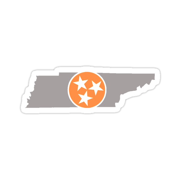 Quot Tennessee State Outline With Tri Star Quot Stickers By Morgan