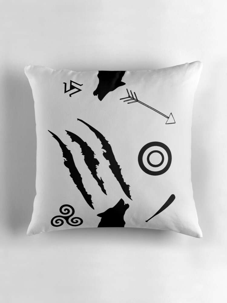 Quot Teen Wolf Symbols Quot Throw Pillows By Jordams124 Redbubble
