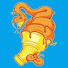 Snake Cream Cone by locustyears