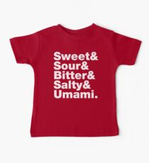 Five Basic Tastes (Sweet & Sour & Bitter & Salty & Umami.) Kids Clothes